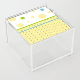 Yellow, With Dots Acrylic Box
