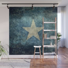 Somalia national flag (officially the Federal Republic of Somalia) Vintage version to scale Wall Mural