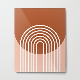 Mid Century Modern Geometric 2 Metal Print