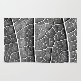 LEAF STRUCTURE BLACK AND WHITE Rug