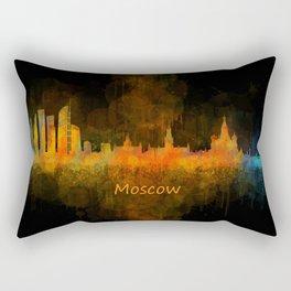 Moscow City Skyline art HQ v4 Rectangular Pillow