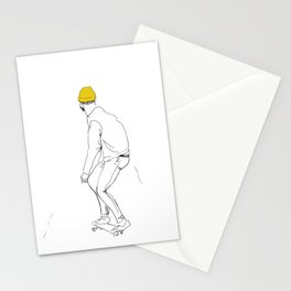 Dude with skateboard Stationery Cards