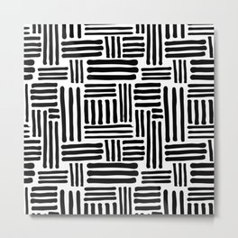 Abstract Geometric Line Pattern Metal Print