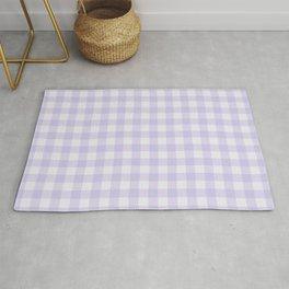 Gingham Pattern - Lilac Rug