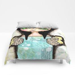 Mixed Media Fairy Girl 1  Comforters