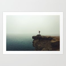 Stand Alone//Pictured Rocks Art Print