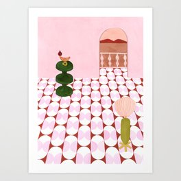 India Mahdavi Inspired House Art Print