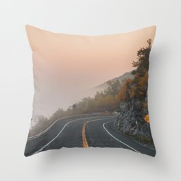 Route 52 Sunrise Throw Pillow
