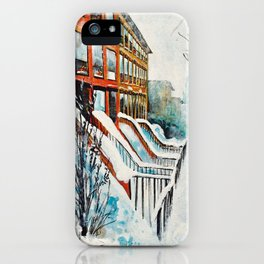 Brooklyn New York In Snow Storm iPhone Case