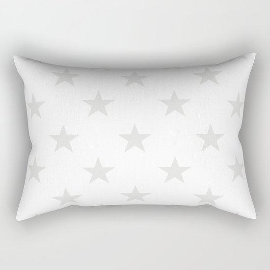 Stars (Platinum/White) Rectangular Pillow