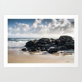Beach Rock Formations Art Print