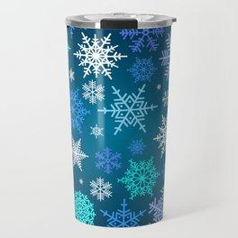 Snowflake pattern Travel Mug