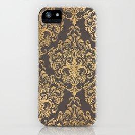 Gold swirls damask #7 iPhone Case