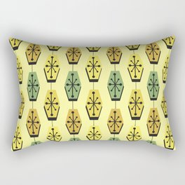 Mid Century Modern Hexagons Lemon Yellow Rectangular Pillow