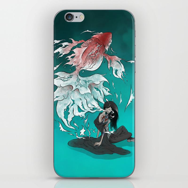 Carp Tattoo Iphone & Ipod Skin by Alex_lu PSK8538628