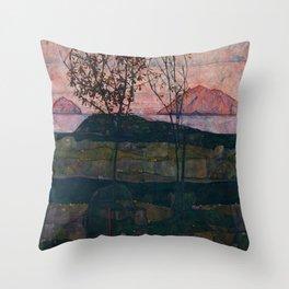 """Egon Schiele """"Setting Sun"""" Throw Pillow"""