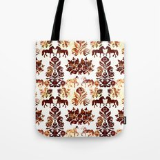 horse damask Tote Bag