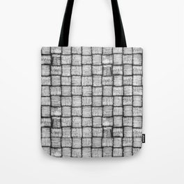 Wicker texture pattern in black and white Tote Bag