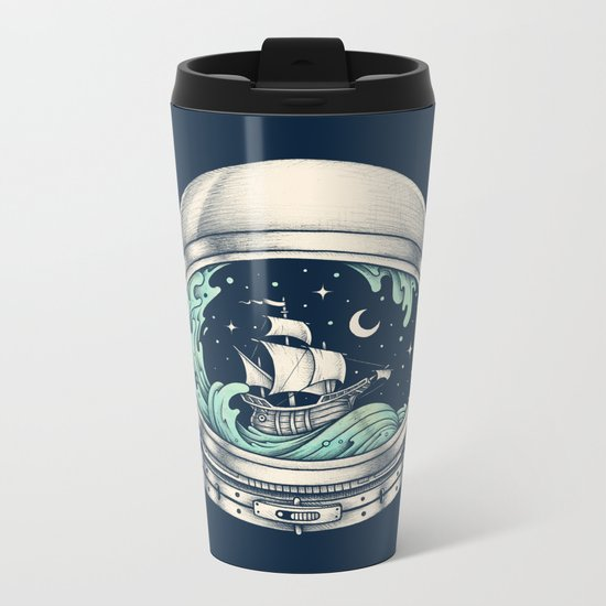 Spaceship Metal Travel Mug