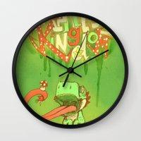 yoshi Wall Clocks featuring Yo Yoshi! by Krissy Diggs