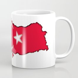 Turkey Map with Turkish Flag Coffee Mug