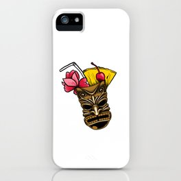 The Big Kahuna Tiki Drink Hawaii Luau Vacation Pun Cool Gift Design iPhone Case