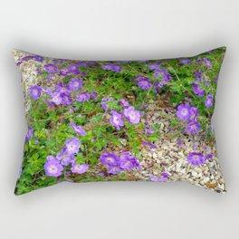 Purple Flowes Rectangular Pillow