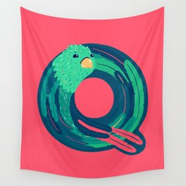 Q for Quetzal Wall Tapestry