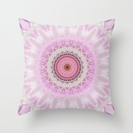 Mandala Magnolia Throw Pillow