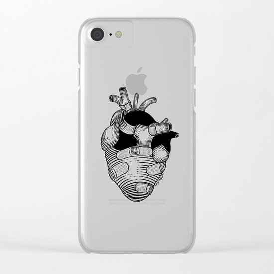 The strongest hearts have the most scars Clear iPhone Case