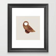 Minanimals: Owl Framed Art Print