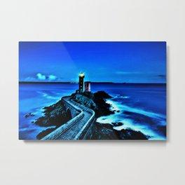 Plouzane Lighthouse, France Landscape by Jeanpaul Ferro Metal Print