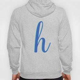 Cursive Letter H in Cobalt Blue Hoody