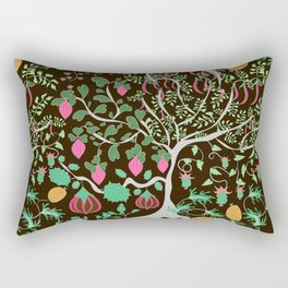 Fairy floral pattern unusual plants, trees and flowers Rectangular Pillow