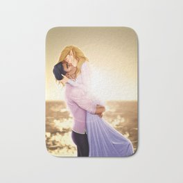 Feyre and Rhysand - A Romantic Sunset Bath Mat