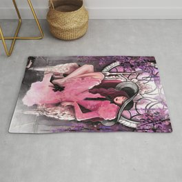 The Witch and the Cursed Castle Rug