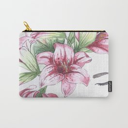 Lilium watercolor Carry-All Pouch