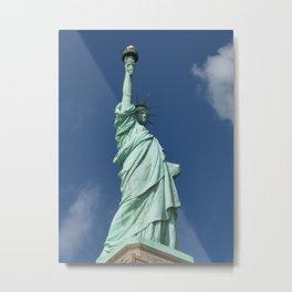 Blue Skies Behind Lady Liberty Metal Print