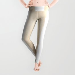 Simply Vertical Stripes in White Gold Sands Leggings