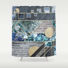 Ice and Stone Shower Curtain