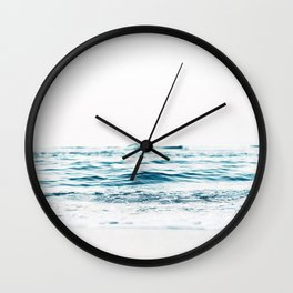 Water, Sea, Ocean, Water, Blue, Nature, Modern art, Art, Minimal, Wall art Wall Clock