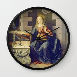 "Leonardo da Vinci ""Annunciation 2."" Wall Clock"