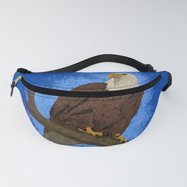 Eagle on branch Fanny Pack