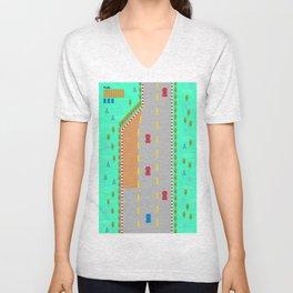Game Frame - Frenetic Road Unisex V-Neck