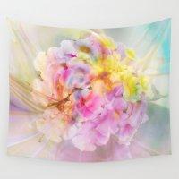 hydrangea Wall Tapestries featuring Hydrangea Fantasy by Klara Acel