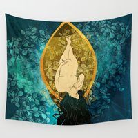 sailing Wall Tapestries featuring Sailing by Elsa Herrera-Quinonez