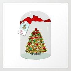 I'll Be Home For Christmas, Christmas Tree Globe Art Print