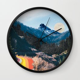 1960's Style Mountain Collage Wall Clock