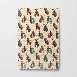 Medieval Knights in Armor with  Coats of Arms Metal Print