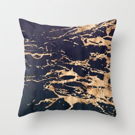 Double Marble Lichenradient Suede Throw Pillow